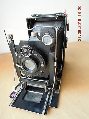 Folding a plaques circa1920.Rare folding vintage plate camera from Germany