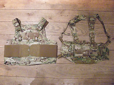 Multicam Mayflower/Velocity Systems low profile Plate Carrier/Chest Rig set. LBT