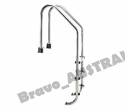 Swimming Pool Ladder Stainless Steel 3 Step New - Non Slip In Ground Wide Steps