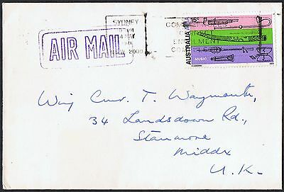 1971 15c Australia-Asia on 1971 airmail cover to the UK TS726