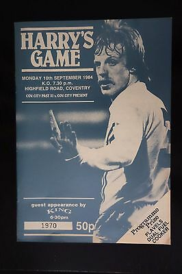 1984/85 BRIAN HARRY ROBERTS TESTIMONIAL COVENTRY CITY match programme 10.9.1984