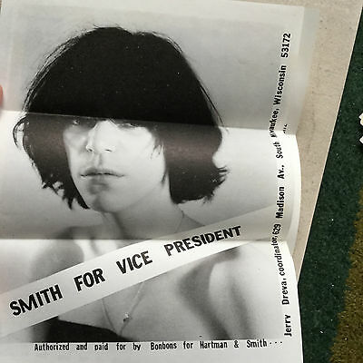 Jerry Dreva Mail Art Collection Bonbons Hartman / Patti Smith For President 1976