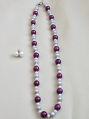 """Honora Sterling Silver Freshwater Cultured Pearl Necklace And Earrings 18"""""""