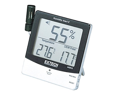 Humidity Meter Extech Standard Large Triple Display With Alarm And Remote Probe