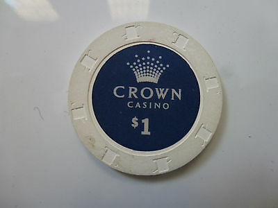 Crown Casino Melbourne $1 Chip kept souvenirs when the casino first opened