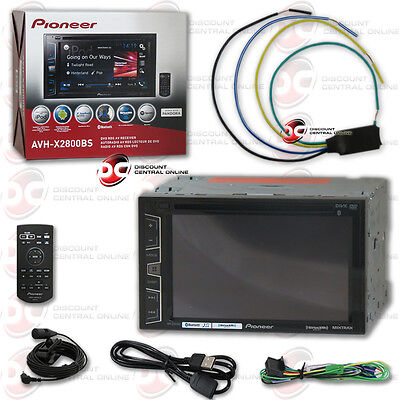 "Pioneer Avh-X2800Bs Car 6.2"" Touchscreen Dvd Bluetooth Stereo Free Video Bypass"
