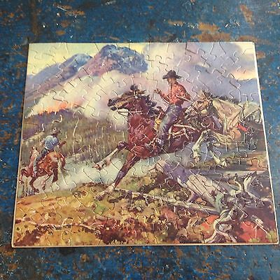 Cool Vintage Cowboy and Horses Belmor Puzzle Horses from 60's? 70's?