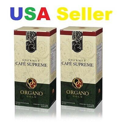2 Boxes ORGANO GOLD GOURMET CAFE SUPREME -  Delivered within 1-3 Business days!