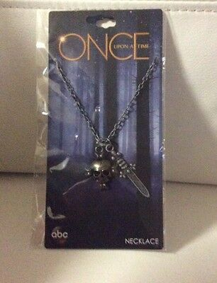 NEW Disney Once Upon A Time Hook Replica Dagger Sword Necklace