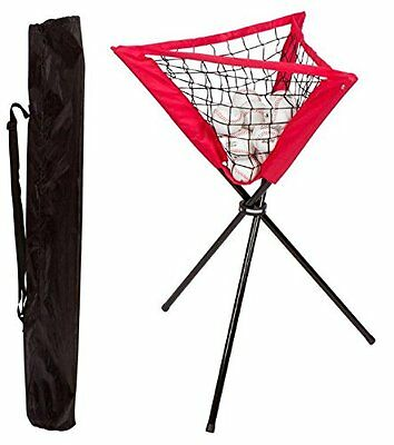 Portable Batting Ball Caddy with Carry Bag for Baseball & Softball Practice by