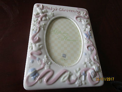 "Baby's Christening Photo Frame  - Girl - 3.5"" X 5"" By Russ Baby"