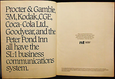 Northern Telecom - 2 Pages Vintage 1984 Ad - Advertising