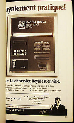Royal Bank - Jean Lapointe - Chateauguay - Vintage 1980's  French Advertising