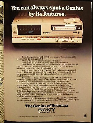 Sony - Betamax Vcr - Great Western - New York  Champagne - Vintage 1981 Ad