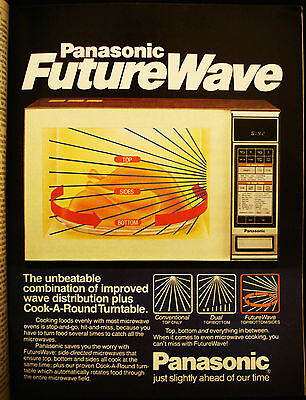 Panasonic - Microwave Oven - Future Wave - Vintage 1984 Page Ad - Advertising