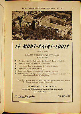 College Mont Saint Louis - Vintage 1940's Ad - French Advertising - Montreal