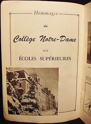 College Notre-Dame - Ad - Vintage 1940's French Advertising - Montreal - Quebec