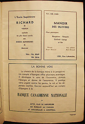 Banque Canadienne Nationale - Vintage 1940's French Bank Ad - Montreal - Quebec