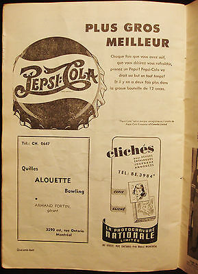 Pepsi - Pepsi Cola - Ad - Vintage 1940's French Advertising - Montreal - Canada