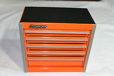 New Snap On Electric Orange Mini Bottom Roll Cab Tool Box Rare  Brand New
