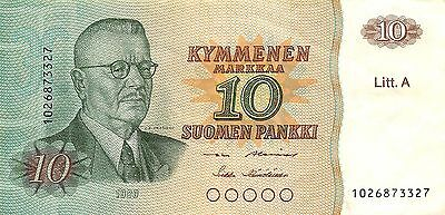 Finland  10 Markka 1980  Litt. A  circulated Banknote E22S