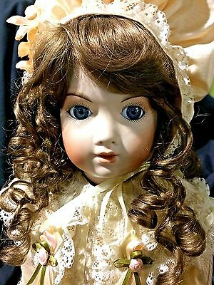 "Shirley Wing 22"" Kardolin Fully Articulated ALL Porcelain Doll 1989 LE #13/250"