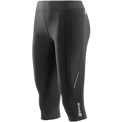 Skins A200 Womens Thermal Compression 3/4 Tights Black/Black Small
