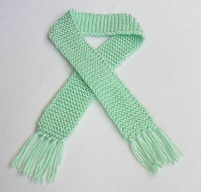 Mint Blue Green Knit Baby Scarf Boy or Girl Scarves Knitted Winter Photo Prop