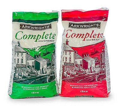 Arkwrights chicken or Beef 15kg or 30kg complete Quality and value dog food