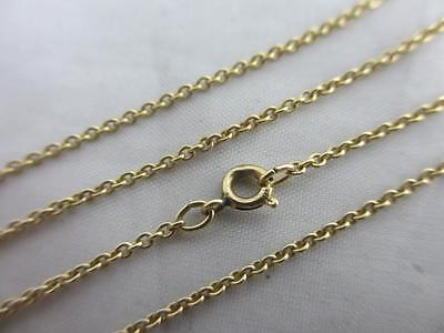 14k yellow gold chain link necklace vintage c1980 tbj00193