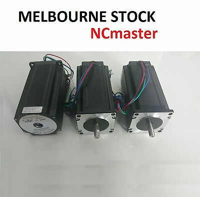 3x Nema 23 Stepper Motor Single Shaft 3A 425oz - High End