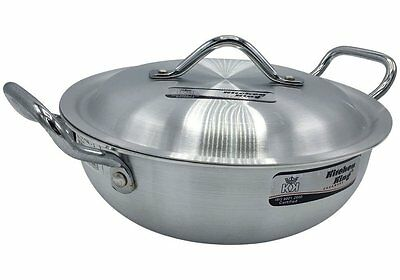 Superior Metal Finish Stir Fry Wok Style with Lid