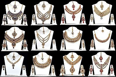 Stunning Indian Jewellery Bollywood Choker Necklace  Earring Sets.