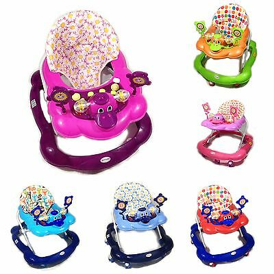 Baby Walker First Steps Activity Bouncer Musical Toy Push Along Pink Ride Duck