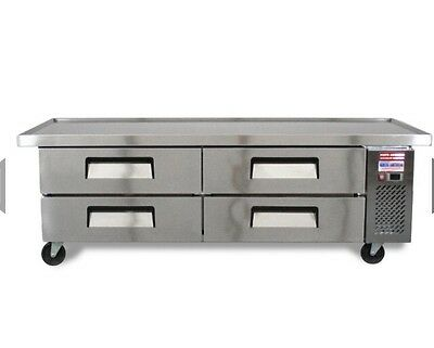 """CHEF BASE 72"""" 76"""" Refrigerated Grill Stand 4 Draw Equipment Table Line Drawer"""