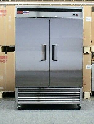 2 Door Refrigerator Cooler NEW Commercial Stainless Double Reach In Up Right