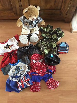 Build A bear Ted With Clothes and accessories