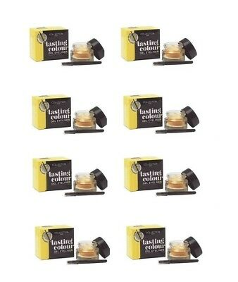 2 X Collection 2000 Lasting Colour Gel Eyeliner Gold Liquid Eye Liner Party Pot