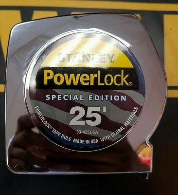 Stanley 33-425Lt Powerlock 25 Ft Tape Measure Special Edition Made In Usa