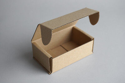 10 Brown Cardboard Paper Gift Boxes Christmas Recycled Jewellery Self Assembly