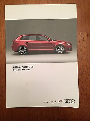 Audi A3 8P 2011 Owners Manual Booklet Case