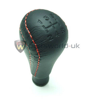 Genuine Alfa Romeo 145 146 GTV Spider black leather gear knob with red stitch