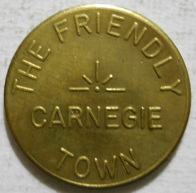 Carnegie, Pennsylvania parking token - PA3160A