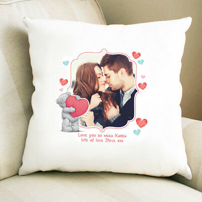 Personalised Message & Photo Cushion - Wedding Engagement Anniversary Me to You