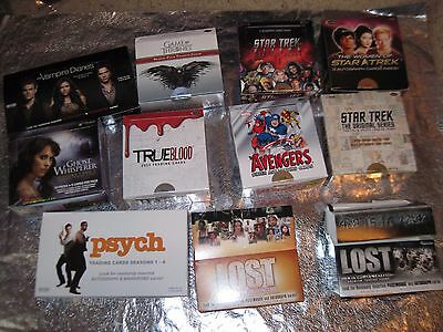 DISPLAY 50 BOXES Star Trek GAME THRONES True Blood AVENGERS Lost VAMPIRE DIARIES