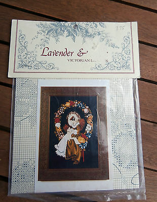 Lavender & Lace Victorian Designs Cross Stitch Chart Lady of the Thread 1988 NEW