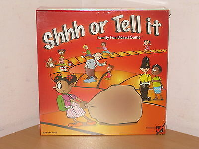 Shhh Or Tell It Family Board Game Brand New/sealed