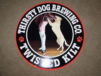 THIRSTY DOG BREWING CO Twisted Kilt METAL TACKER SIGN craft beer brewery