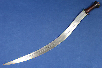 Abyssinian Ethiopian shotel sabre (sword) with wood handle - 19th early 20th