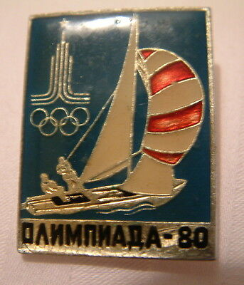 Russia. Moscow Olympics badge. Dated 1980. Sailing. ORIGINAL.